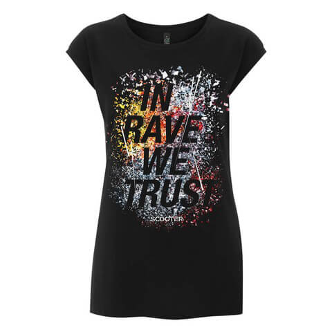 In Rave We Trust von Scooter - Girlie Shirt jetzt im Scooter Shop