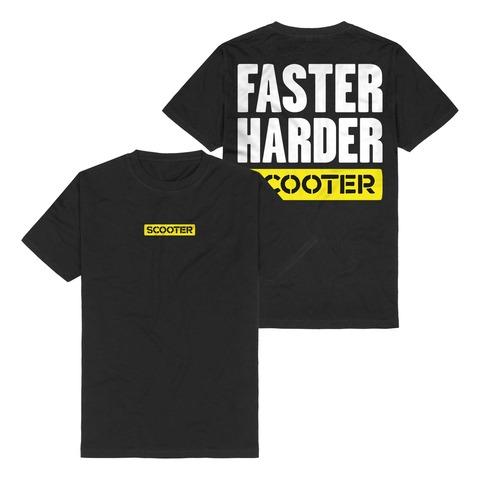 √Faster Harder Scooter von Scooter - T-Shirt jetzt im Scooter Shop