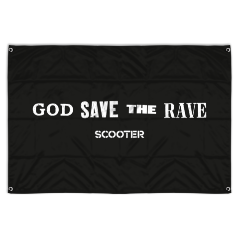 √God Save The Rave von Scooter - Flag jetzt im Scooter Shop